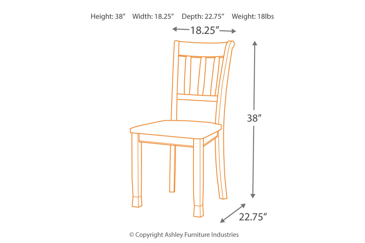 Sensational Owingsville Dining Room Chair Ashley Furniture Homestore Ibusinesslaw Wood Chair Design Ideas Ibusinesslaworg