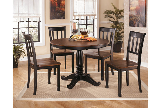 Black Brown Owingsville Table And Base View 1