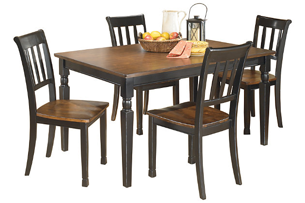 Owingsville Dining Table and 4 Chairs Set