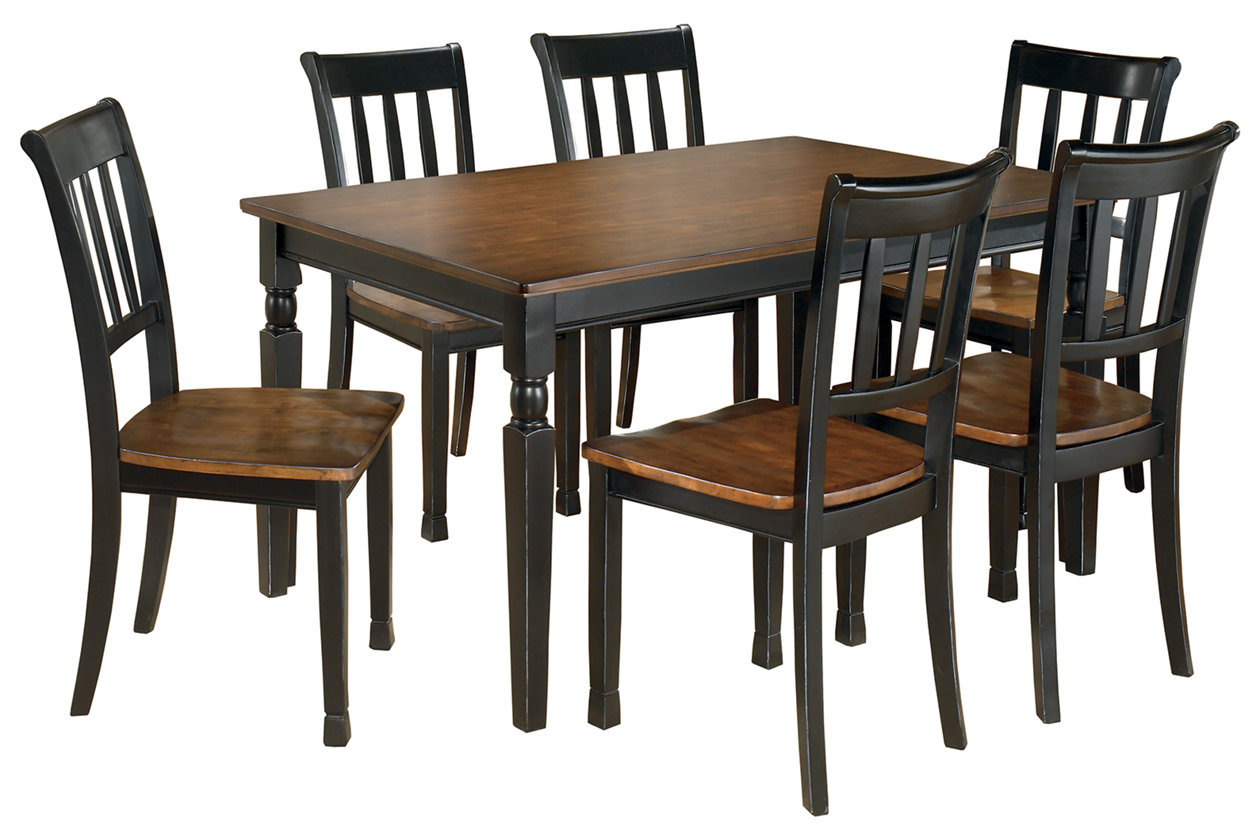 Owingsville Dining Table And 6 Chairs Set Ashley Furniture Homestore