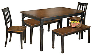 Owingsville Dining Table and 2 Chairs and 2 Benches, , large