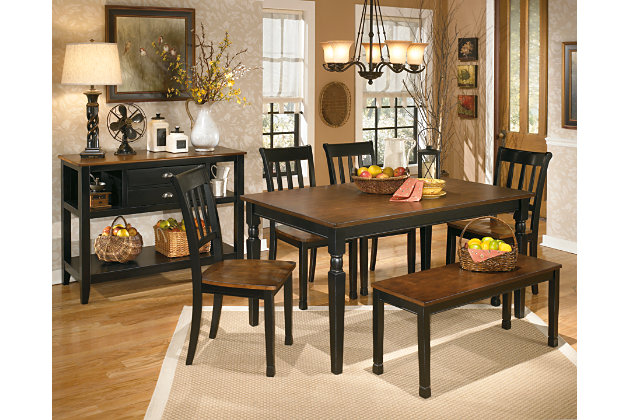 Black Brown Owingsville Dining Room Bench View 3