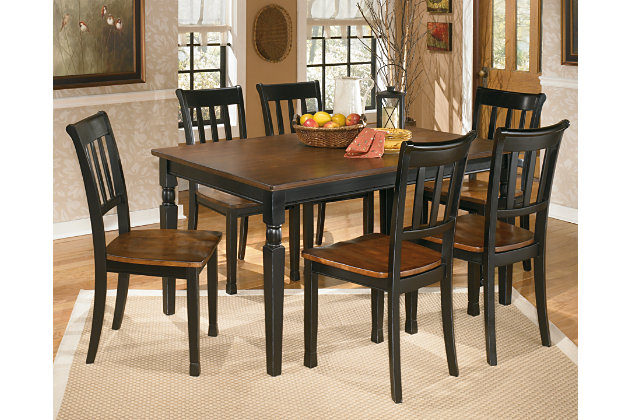 Black Brown Owingsville Dining Room Table View 3