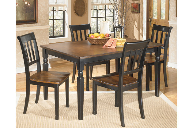 Black Brown Owingsville Dining Room Table View 1