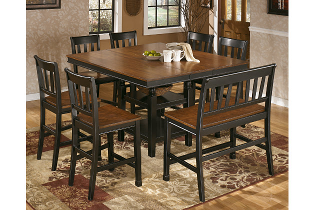 Black/Brown Owingsville Counter Height Dining Room Table View 4