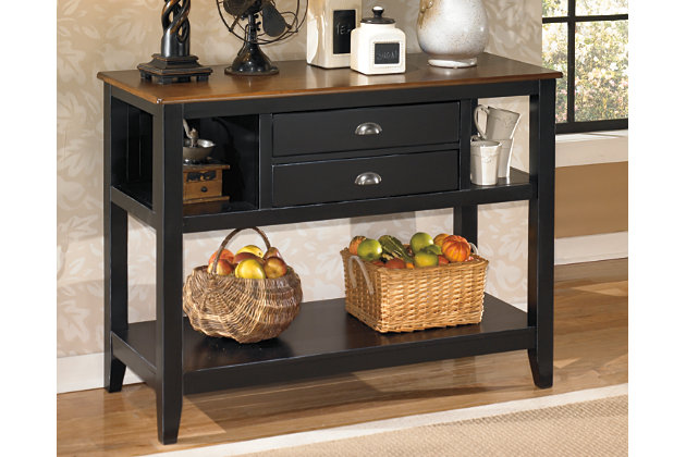Black Brown Owingsville Dining Room Server View 1