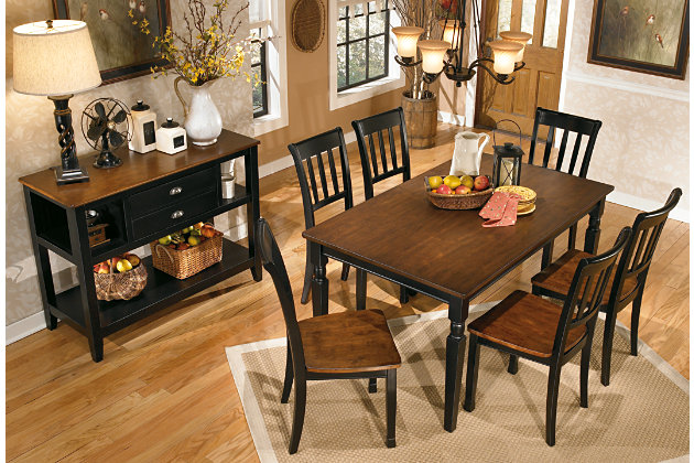 Black Brown Owingsville Dining Room Chair View 3