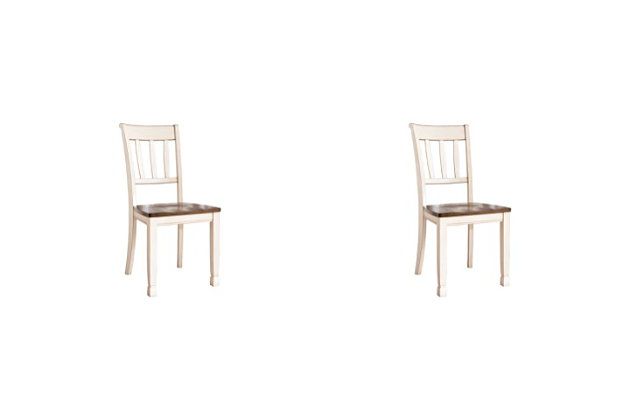 Whitesburg Dining Room Chair, Brown/Cottage White, large
