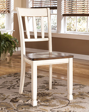 Whitesburg Dining Room Chair, Brown/Cottage White, rollover