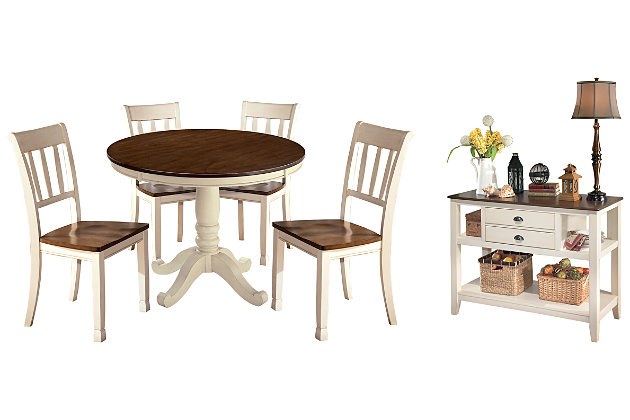 Whitesburg Dining Table And 4 Chairs, Ashley Furniture Whitesburg