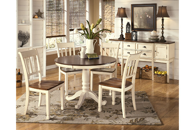 Brown Cottage White Whitesburg Dining Room Chair View 5