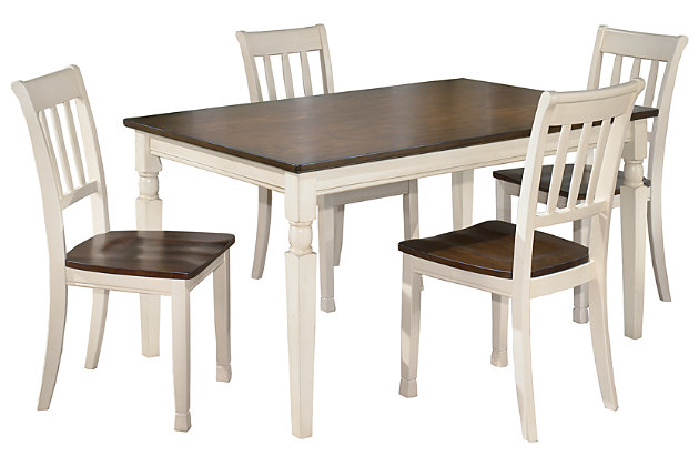 Whitesburg Dining Table and 4 Chairs Set