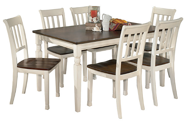 Whitesburg Dining Table and 6 Chairs, , large