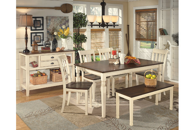 Brown/Cottage White Whitesburg Dining Room Server View 3