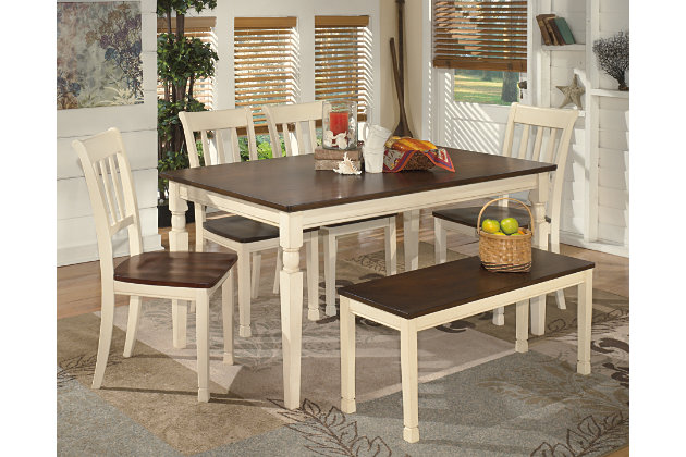 whitesburg dining room bench | ashley furniture homestore