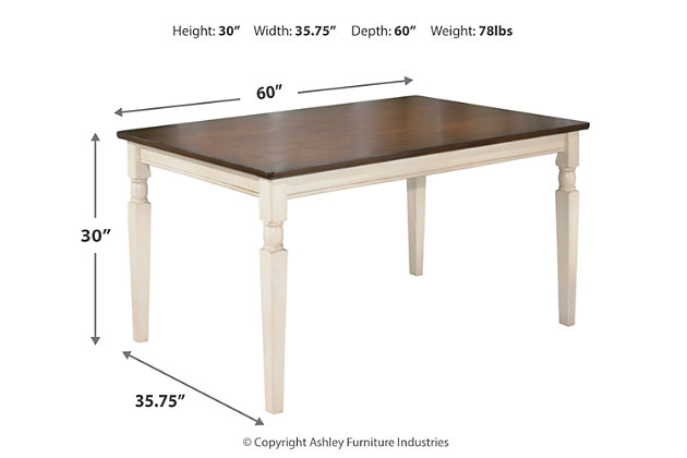 Whitesburg Dining Room Table Ashley Furniture Home