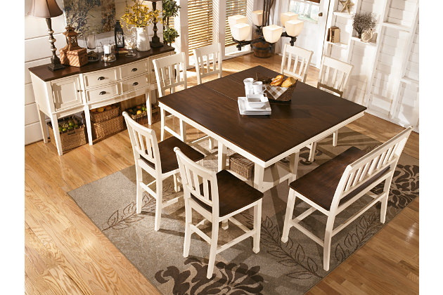 Whitesburg Counter Height Dining Room Table | Ashley Furniture ...