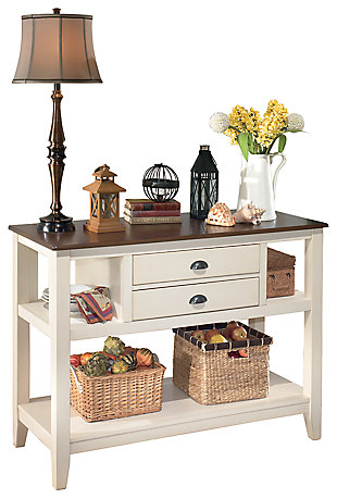 Whitesburg Dining Room Server, Brown/Cottage White, large