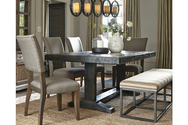 Rustic Brown Strumfeld Dining Room Table View 1