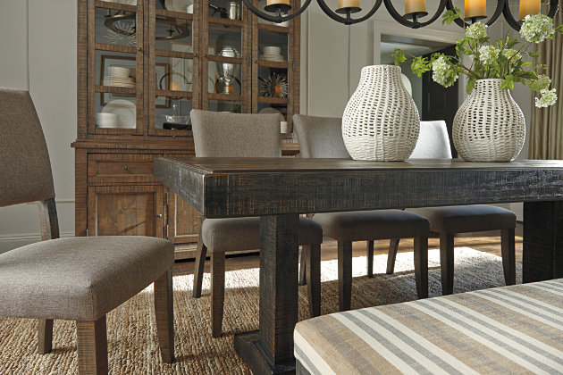 Rustic Brown Strumfeld Dining Room Table View 8