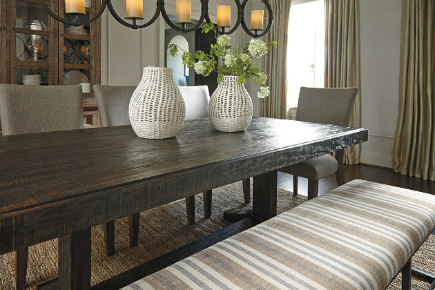 Rustic Dining Room Table With Bench. Strumfeld Dining Room Table, , Large Rustic  Table