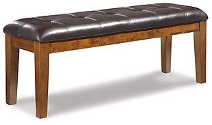 Haddigan Dining Room Bench, Medium Brown, large