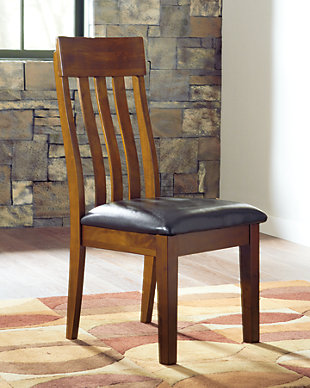 Ralene Dining Chair, Medium Brown, rollover