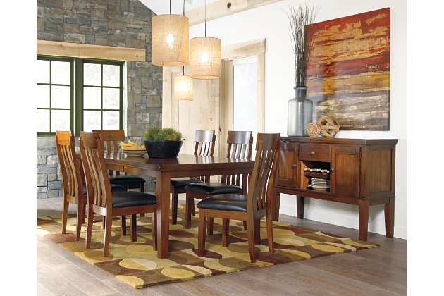 Medium Brown Ralene Dining Room Server View 3