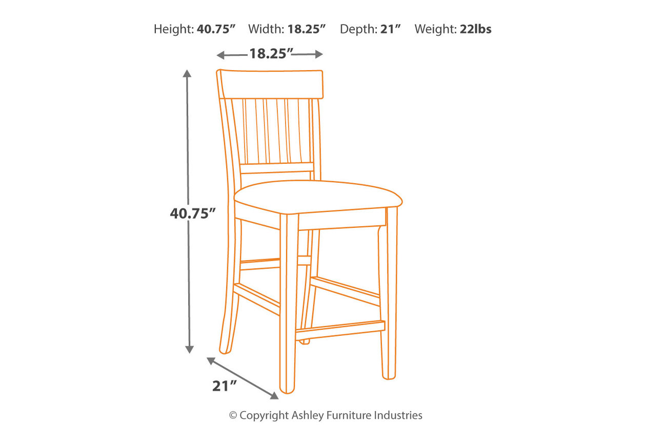 Pleasing Haddigan Counter Height Bar Stool Ashley Furniture Homestore Bralicious Painted Fabric Chair Ideas Braliciousco