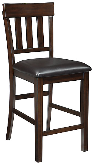Haddigan Counter Height Bar Stool, Dark Brown, large
