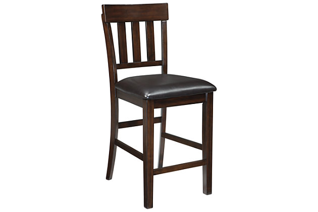 Haddigan Counter Height Bar Stool, Dark Brown, large