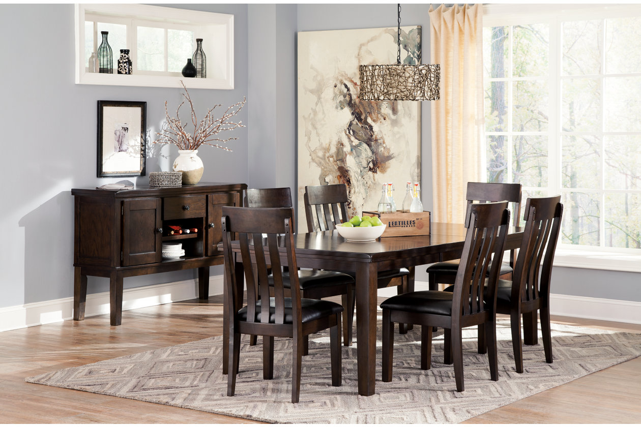 Amazing Haddigan Dining Room Extension Table Ashley Furniture Bralicious Painted Fabric Chair Ideas Braliciousco