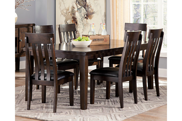 Haddigan Dining Room Table, Dark Brown, Large ...