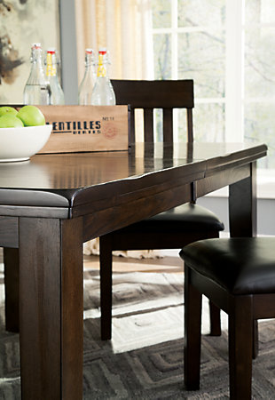 Haddigan Dining Extension Table Ashley Furniture Homestore