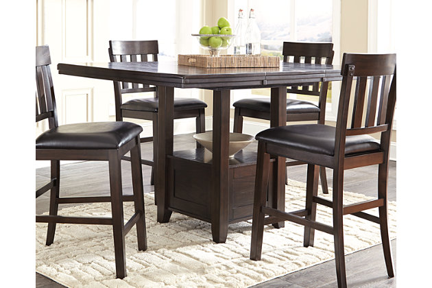 Dark Brown Haddigan Counter Height Dining Room Table View 1