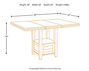 Haddigan Counter Height Dining Room Extension Table, , large