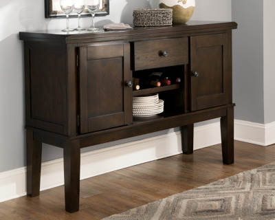 Ashley Haddigan Dining Room Server, Dark Brown