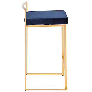 Fuji Stackable Counter Stool (Set of 2), Blue, large