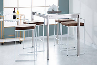 Fuji Stackable Counter Stool (Set of 2), , rollover
