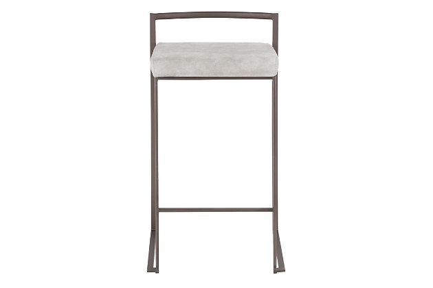 Fuji Industrial Stackable Counter Stool (Set of 2), , large