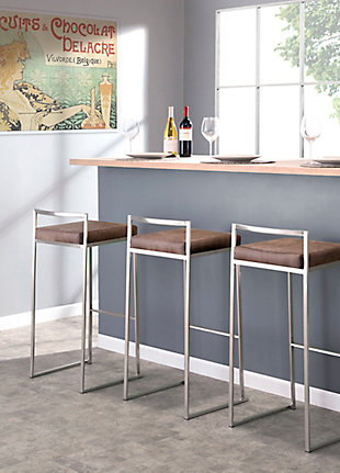 Fuji Stackable Barstool (Set of 2), , rollover