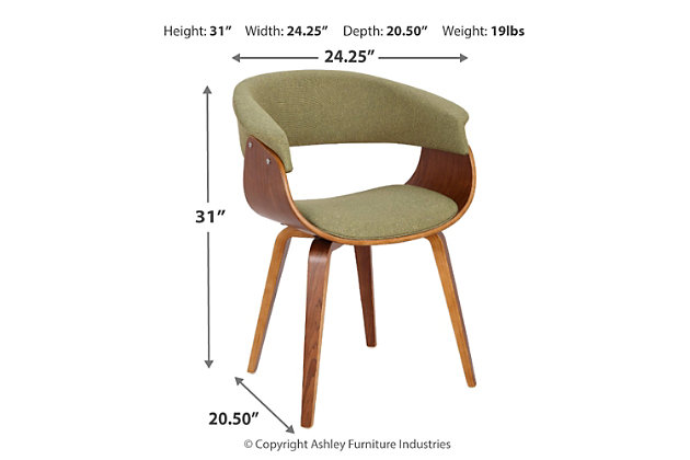 Vintage Mod Dining/Accent Chair, , large