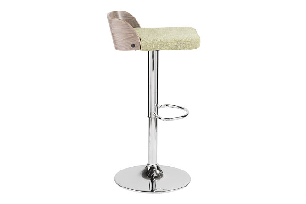 Velli Adjustable Height Bar Stool with Swivel, , large