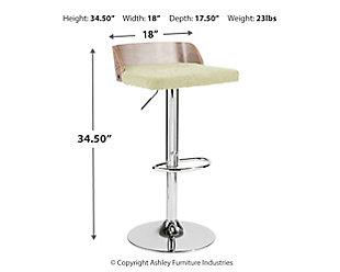 Velli Adjustable Barstool, , large