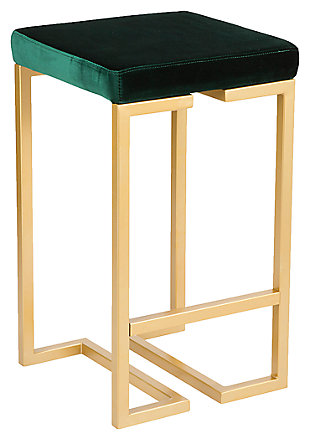 "Felicia 26"" Counter Stool (Set of 2), Yellow/Green, large"