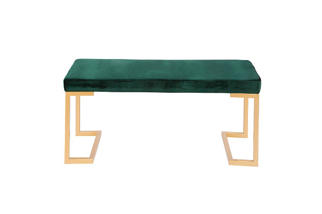 Felicia Entryway/Dining Bench, Yellow/Green, large
