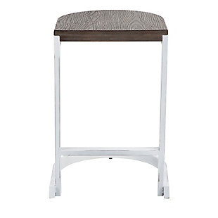 Industrial Demi Counter Stool (Set of 2), White/Brown, rollover