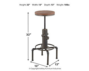 Hydra Industrial Barstool, , large