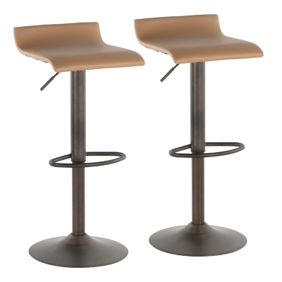 Ale Industrial Industrial Barstool (Set of 2), Yellow/Black, large