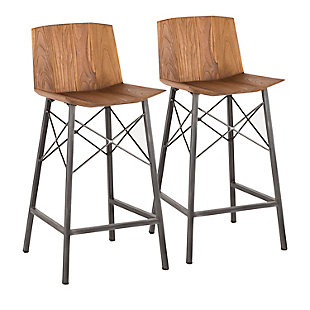 Stout Industrial Counter Stool (Set of 2), , large